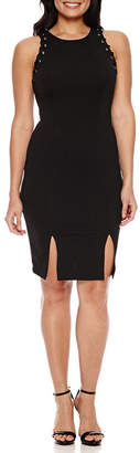 Bisou Bisou Sleeveless Embellished Stripe Sheath Dress