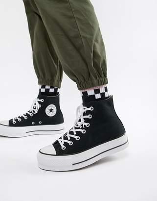 Converse Chuck Taylor All Star platform hi black trainers f6f38aa4c