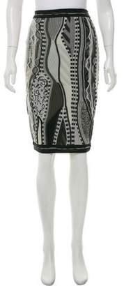 Rag & Bone x Coogi Merino Wool Patterned Skirt
