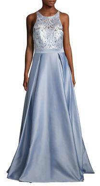 Badgley Mischka Embroidered A-Line Gown $890 thestylecure.com