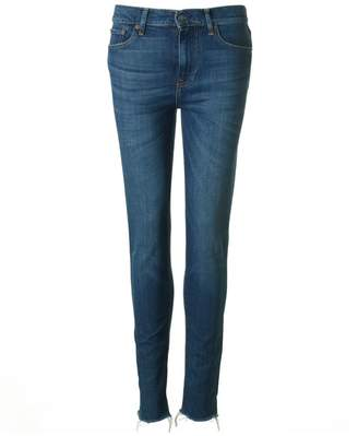 Polo Ralph Lauren High Rise Frayed Hem Jeans