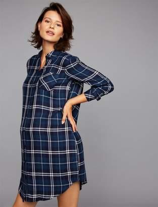 Rails Button Detail Maternity Shirt Dress