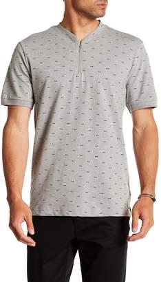 Kenneth Cole New York Short Sleeve Zip-Up Shirt
