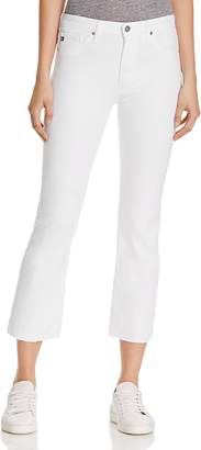 AG High Rise Slim Crop Jeans in White $198 thestylecure.com