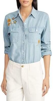 Lauren Ralph Lauren Patch Chambray Shirt