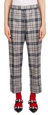 Thom Browne Wool-Blend Tartan Trousers