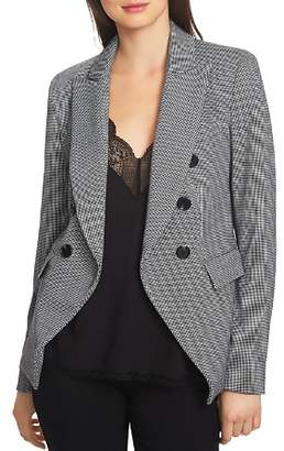 1 STATE 1.STATE Printed Knit Double-Breasted Blazer