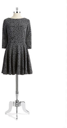 Ali Ro Patterned Fit & Flare Knit Dress $298 thestylecure.com