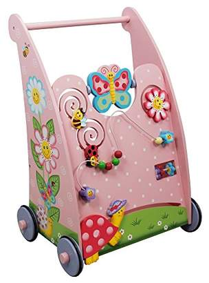 Fantasy Fields - Magic Garden themed Kids Wooden Baby Walker | Hand Crafted & Hand Painted Details | Child Friendly Water-based Paint