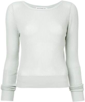 Comme Moi round neck ribbed top