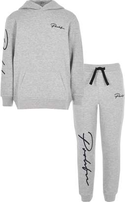 c40673e19 River Island Mens Boys Grey 'Prolific' hoodie outfit