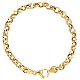 Lord & Taylor 14K Yellow Gold Rolo Bracelet