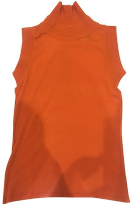 Gianni Versace Orange Wool Top for Women Vintage