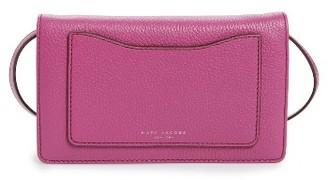 Women's Marc Jacobs 'Recruit' Pebbled Leather Crossbody Wallet - Purple $260 thestylecure.com