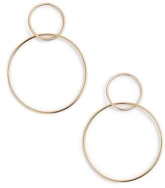 Lana Two Tone Double Loop Earrings