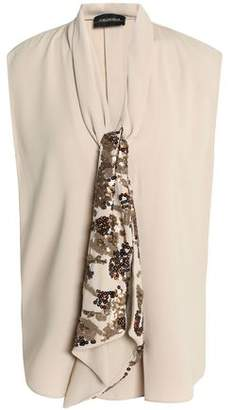 Sale Online Shopping By Malene Birger Woman Embellished Draped Crepe Blouse Beige Size 38 By Malene Birger Recommend Newest Cheap Price a3NRnbw9vQ