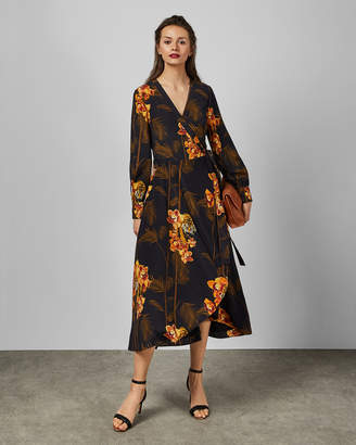 Ted Baker STELA Caramel printed wrap dress