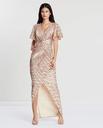Portia Drape Maxi Dress