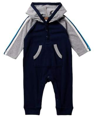 Tea Collection Ewan Hooded Romper (Baby Boys)