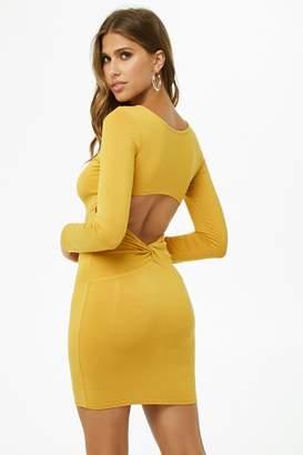 Forever 21 Cutout Twist-Back Bodycon Dress