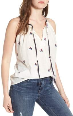 Lucky Brand Americana Embroidered Tank