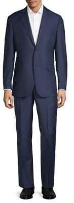 Saks Fifth Avenue BLACK Multistripe Wool Suit