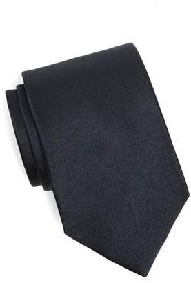 Drakes Drake's Solid Silk Tie in Navy