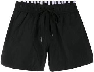Moschino logo drawstring swim shorts