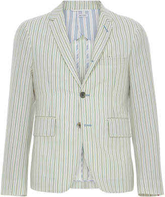 Thom Browne Unconstructed Striped Wool-Blend Sport Coat