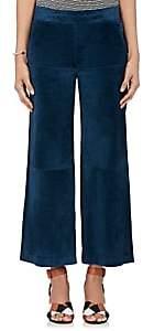 Derek Lam WOMEN'S SUEDE GAUCHO PANTS - RHAPSODY BLUE SIZE 40 IT