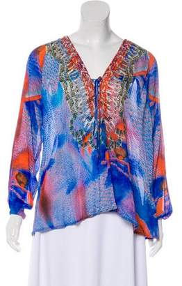 Camilla Embellished Long Sleeve Blouse
