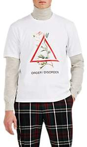 "Undercover Men's ""Order/Disorder"" Rose-Triangle Cotton T-Shirt - White"