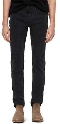 AllSaints Rex Straight Skinny Jeans in Smoke Black