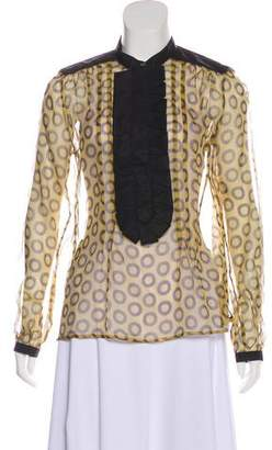 Etro Silk Semi-Sheer Blouse