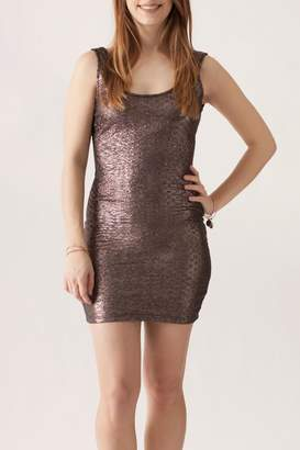 Tcec Metallic Mini Dress