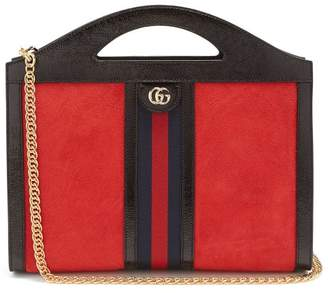 Gucci Ophidia Suede Top Handle Bag - Womens - Red Multi