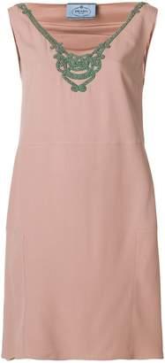 Prada embellished neck dress