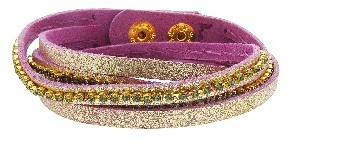 Other Designers Berry Shimmer Double Wrap Bracelet - Hematite