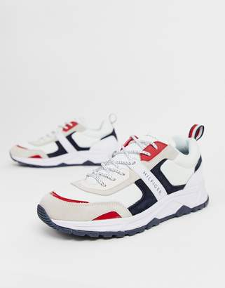Tommy Hilfiger chunky sole sneaker with contrast details in white