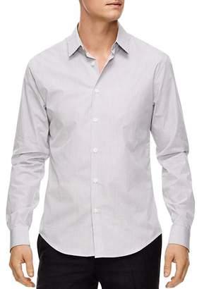 Sandro Micro-Check Slim Fit Button-Down Shirt