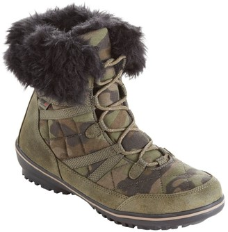 L.L. Bean L.L.Bean Women's Snow Harbor Quilted Ankle Boots, Waterproof Insulated