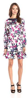 Juicy Couture Black Label Women's Aster Bouquets Silk Dress $258 thestylecure.com
