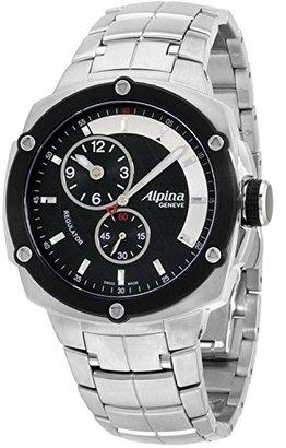 Alpina Avalanche Extremeブラックダイヤルステンレススチールメンズ腕時計al650lbbb3ae6b