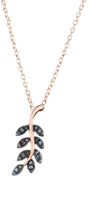 Rosegold Latelita - Diamond Leaf Necklace