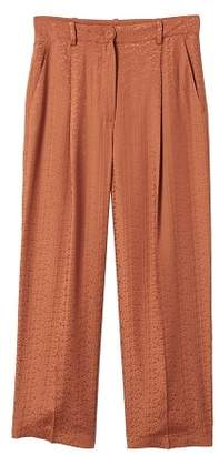 MANGO Flowy straight-fit trousers