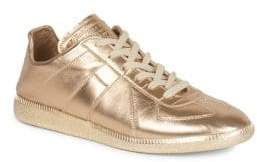 Maison Margiela Metallic Leather Replica Sneakers