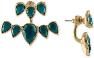 Rachel Roy Gold-Tone Colored Stone Jacket Earrings