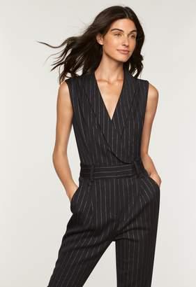 MillyMilly Metallic Pinstripe Tuxedo Jumpsuit