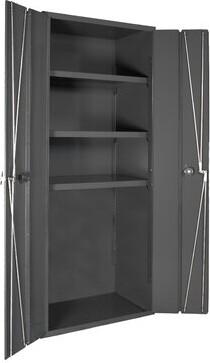 """Durham Manufacturing 72"""" H x 36"""" W x 18"""" D Bi-Fold Door Cabinet Durham Manufacturing"""