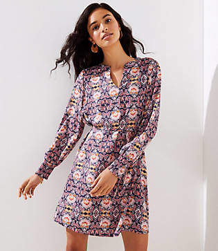 LOFT Fall Fantasy Shirtdress